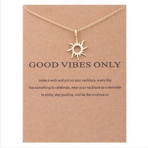 Good Vibes Only Necklace with Card